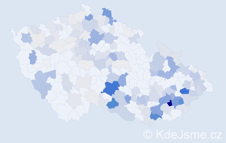 Příjmení: 'Kašík', počet výskytů 738 v celé ČR