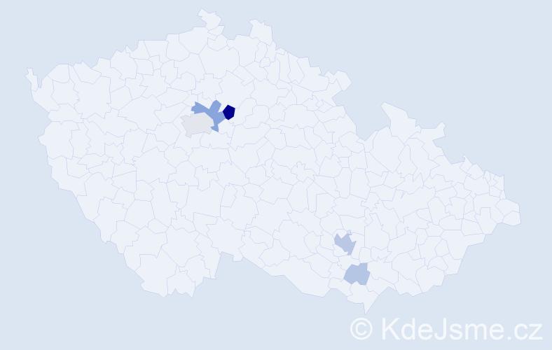 Příjmení: 'Janula', počet výskytů 20 v celé ČR