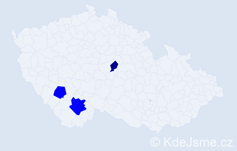 Příjmení: 'Boukalík', počet výskytů 12 v celé ČR
