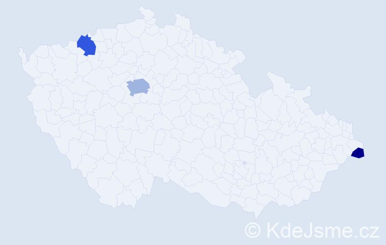 Příjmení: 'Leglerová', počet výskytů 8 v celé ČR