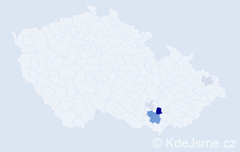 Příjmení: 'Ardely', počet výskytů 6 v celé ČR