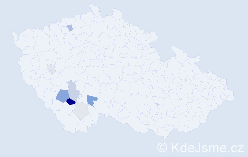 Příjmení: 'Častoral', počet výskytů 29 v celé ČR
