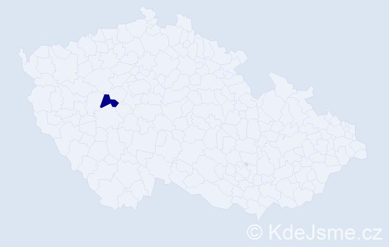 """Příjmení: '""""Čapková Maxová""""', počet výskytů 1 v celé ČR"""