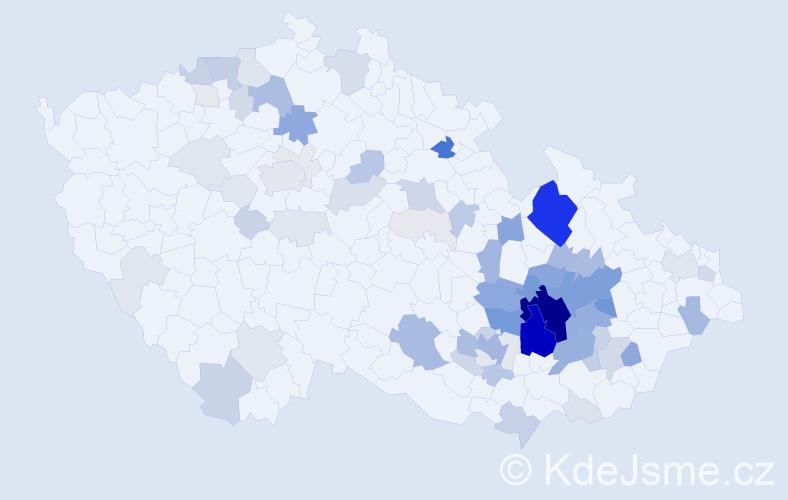 Příjmení: 'Grmela', počet výskytů 285 v celé ČR