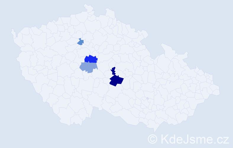 Příjmení: 'Balliš', počet výskytů 9 v celé ČR