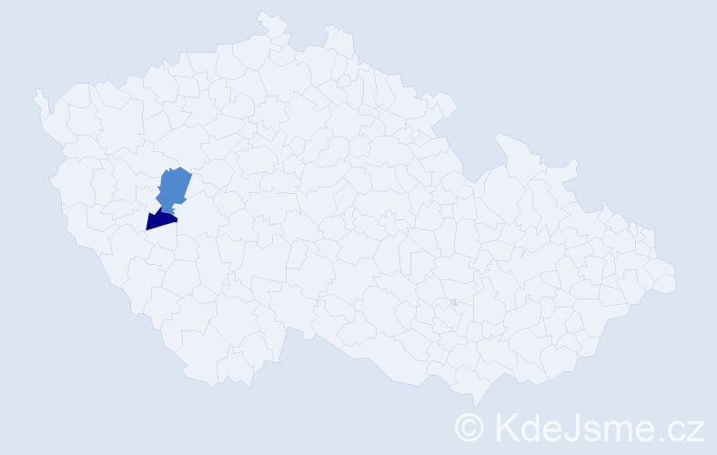 Příjmení: 'Ebelendr', počet výskytů 3 v celé ČR