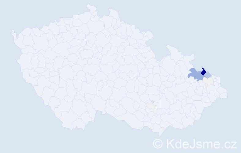 Příjmení: 'Gratza', počet výskytů 46 v celé ČR