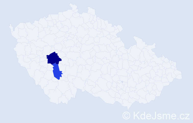 Příjmení: 'Capo', počet výskytů 3 v celé ČR