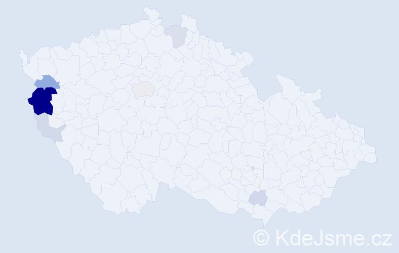 Příjmení: 'Lazorková', počet výskytů 24 v celé ČR