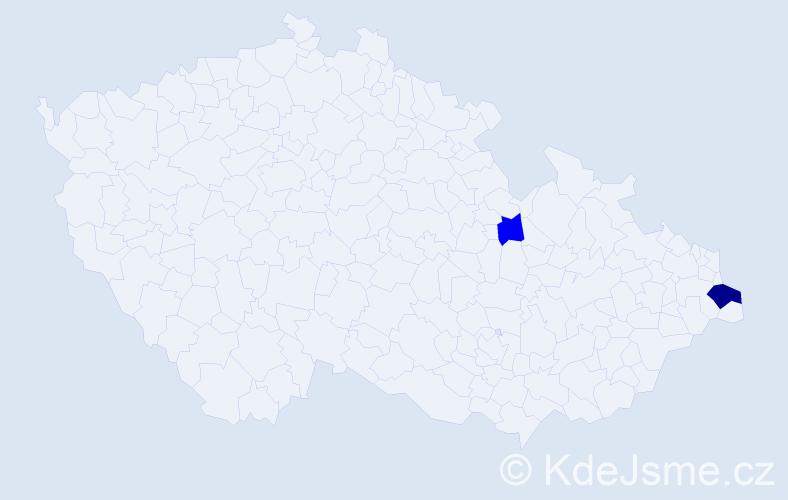 Příjmení: 'Cedrová', počet výskytů 4 v celé ČR