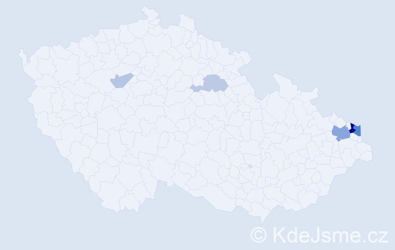 Příjmení: 'Balys', počet výskytů 13 v celé ČR
