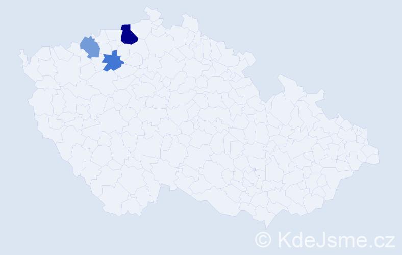Příjmení: 'Grecšová', počet výskytů 6 v celé ČR