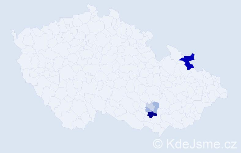 Příjmení: 'Busios', počet výskytů 10 v celé ČR