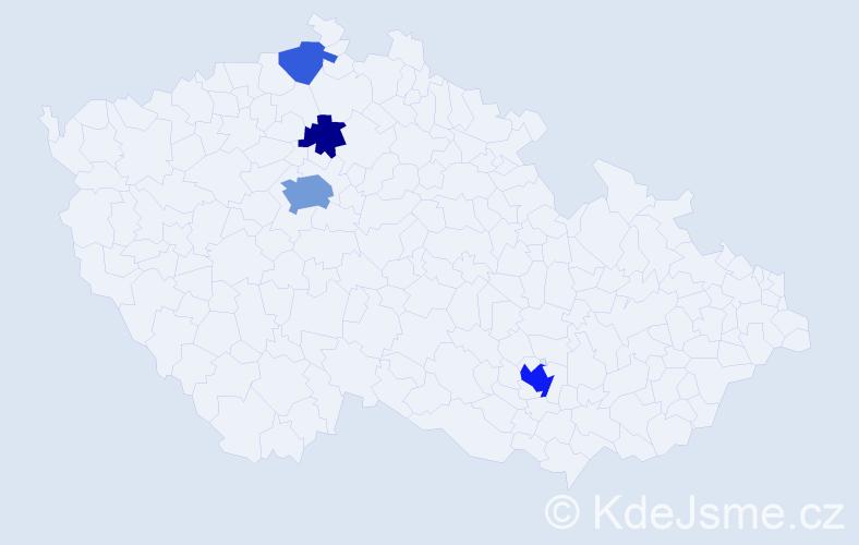 Příjmení: 'Kamm', počet výskytů 11 v celé ČR