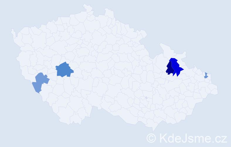 Příjmení: 'Kafura', počet výskytů 7 v celé ČR