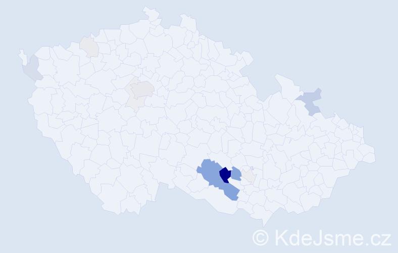 Příjmení: 'Gothardová', počet výskytů 50 v celé ČR