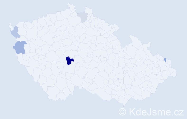 Příjmení: 'Čurčík', počet výskytů 6 v celé ČR