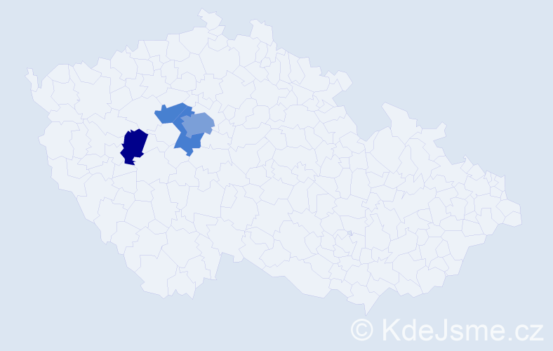 Příjmení: 'Čochner', počet výskytů 7 v celé ČR