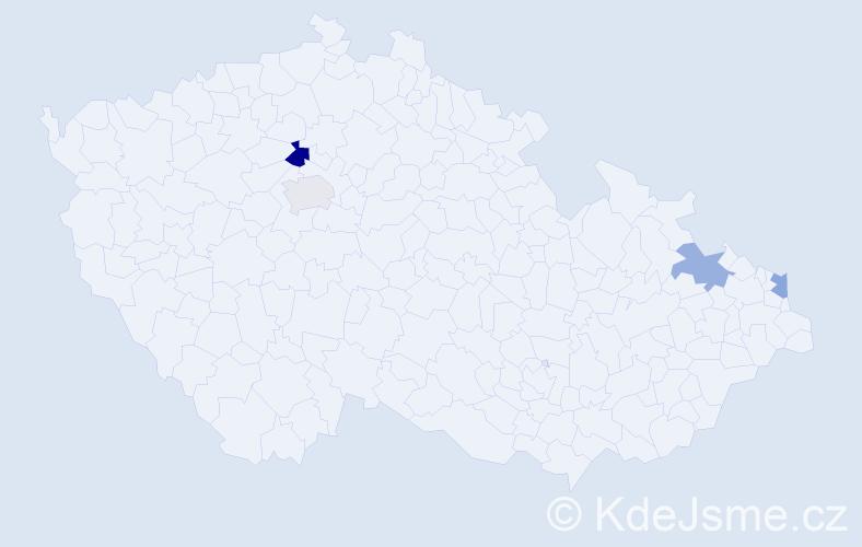 Příjmení: 'Andziol', počet výskytů 5 v celé ČR