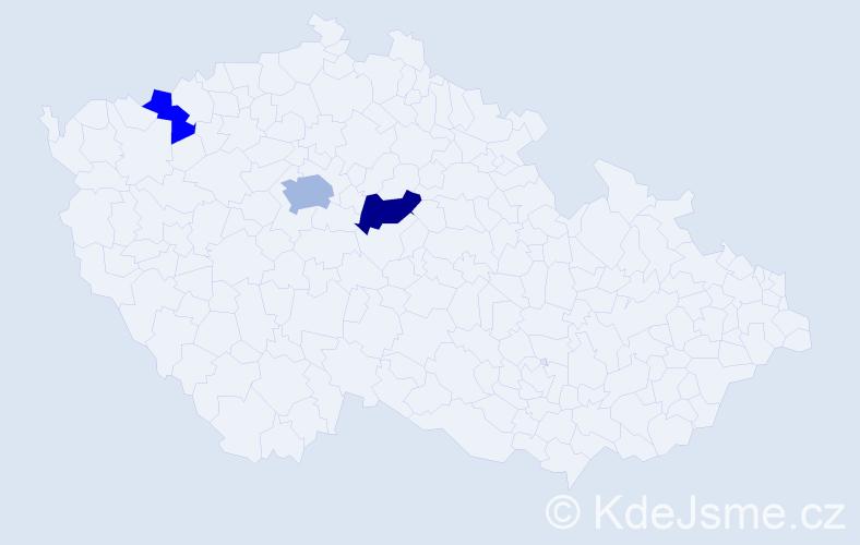 Příjmení: 'Dautovská', počet výskytů 6 v celé ČR