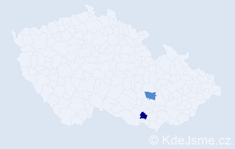 Příjmení: 'Elhil', počet výskytů 3 v celé ČR