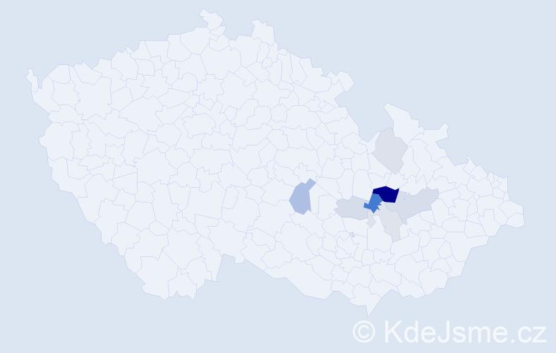 Příjmení: 'Drešr', počet výskytů 17 v celé ČR