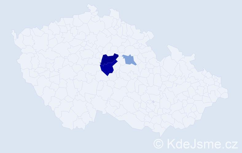 Příjmení: 'Dojčiaková', počet výskytů 6 v celé ČR