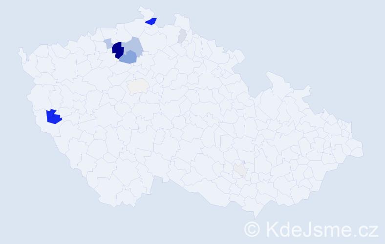 Příjmení: 'Drátovník', počet výskytů 31 v celé ČR