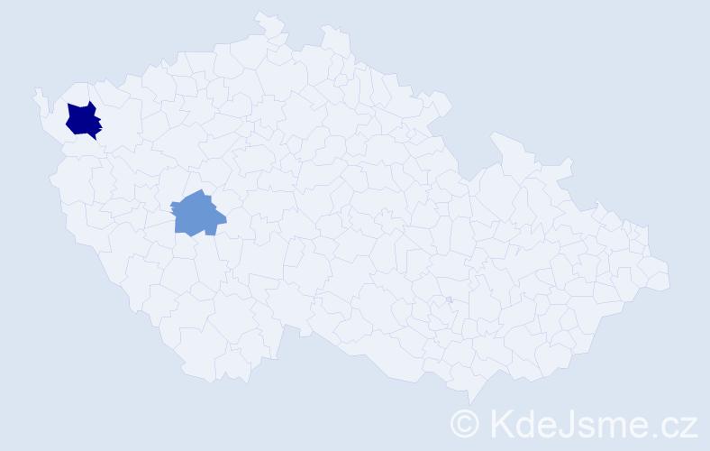 Příjmení: 'Holoďáková', počet výskytů 4 v celé ČR