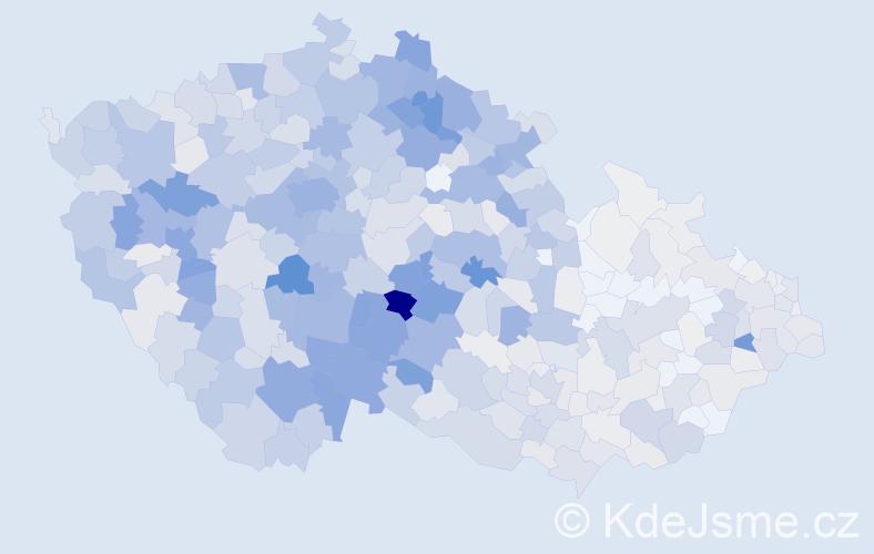 Příjmení: 'Havlová', počet výskytů 4198 v celé ČR