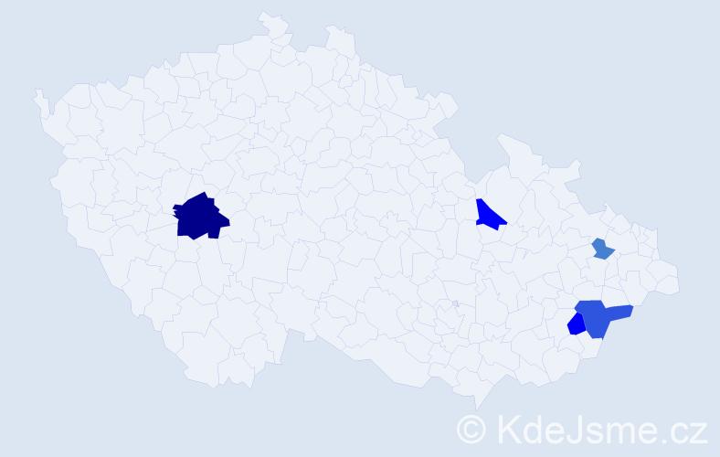 Příjmení: 'Fúsik', počet výskytů 12 v celé ČR