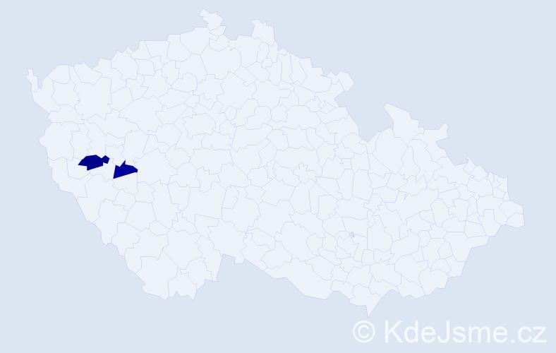 Příjmení: 'Halagan', počet výskytů 3 v celé ČR