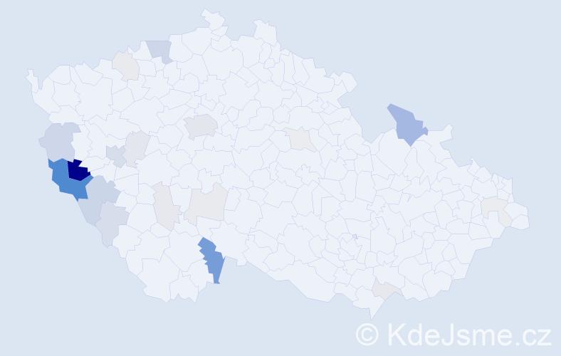 Příjmení: 'Decker', počet výskytů 74 v celé ČR