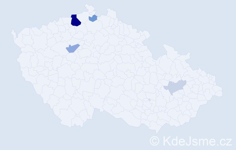 Příjmení: 'Jackelová', počet výskytů 14 v celé ČR