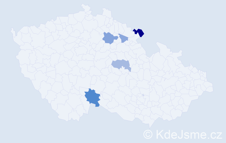 Příjmení: 'Glovanová', počet výskytů 12 v celé ČR