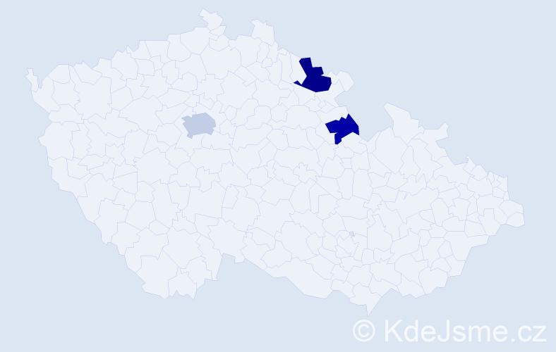 Příjmení: 'Emichelová', počet výskytů 5 v celé ČR