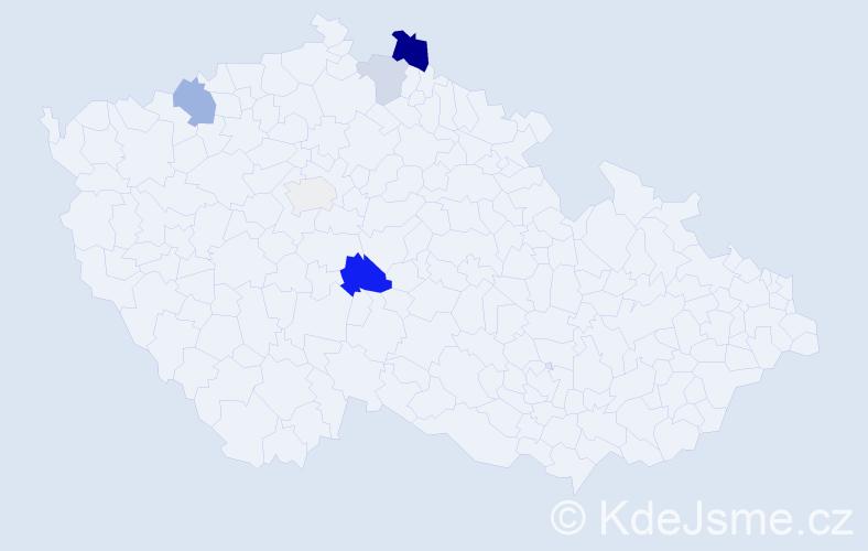 Příjmení: 'Hojčuková', počet výskytů 11 v celé ČR