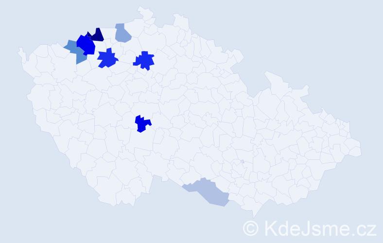Příjmení: 'Imrová', počet výskytů 22 v celé ČR