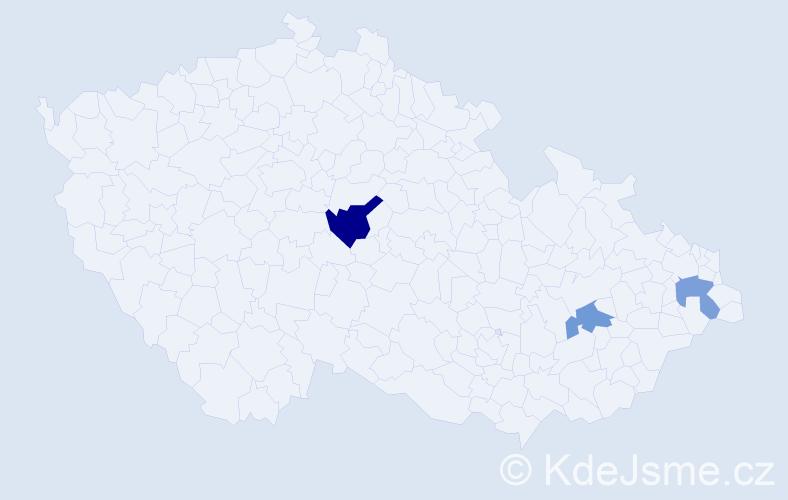 Příjmení: 'Gerezdes', počet výskytů 4 v celé ČR