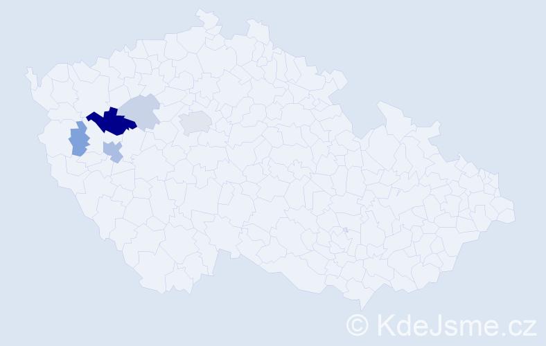 Příjmení: 'Lego', počet výskytů 16 v celé ČR