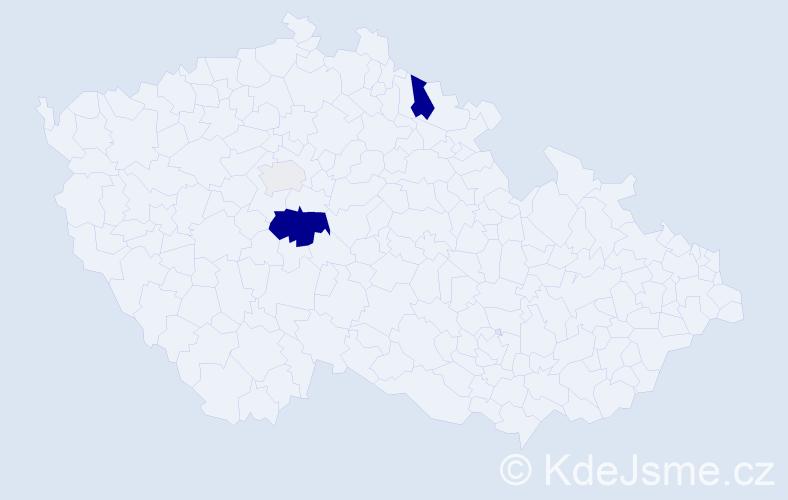 Příjmení: 'Jirko', počet výskytů 10 v celé ČR