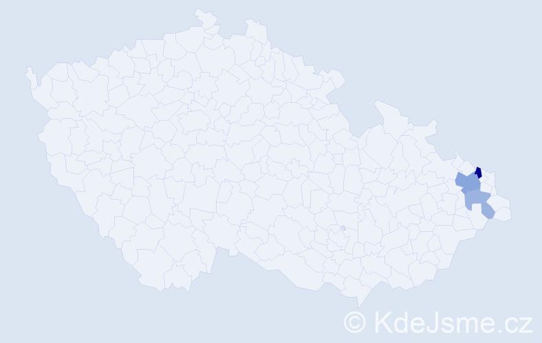 Příjmení: 'Gluc', počet výskytů 6 v celé ČR