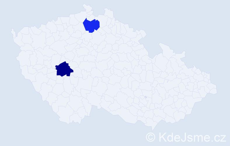 Příjmení: 'Ivachňuková', počet výskytů 7 v celé ČR