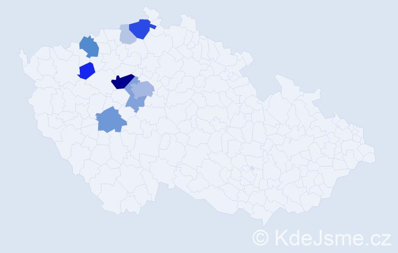 Příjmení: 'Evan', počet výskytů 30 v celé ČR