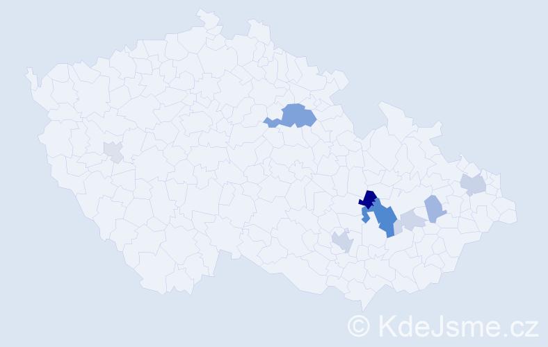 Příjmení: 'Čépe', počet výskytů 23 v celé ČR