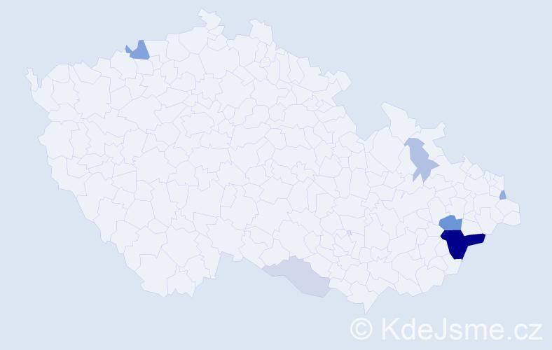 Příjmení: 'Ezechýlová', počet výskytů 21 v celé ČR