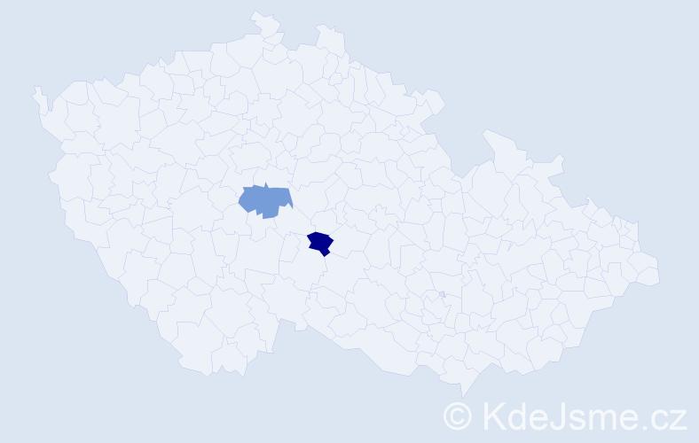 Příjmení: 'Lavryšyn', počet výskytů 4 v celé ČR