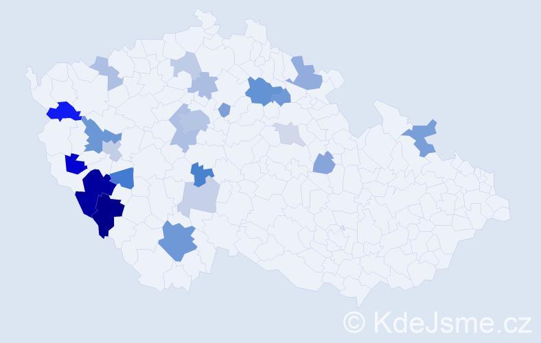 Příjmení: 'Flosman', počet výskytů 60 v celé ČR