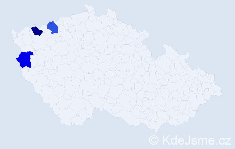 Příjmení: 'Lantaj', počet výskytů 7 v celé ČR
