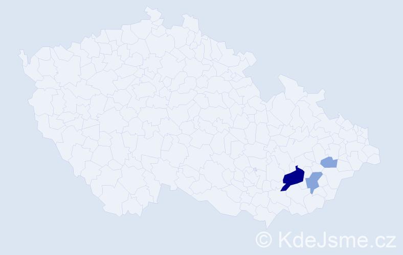Příjmení: 'Jedruchová', počet výskytů 10 v celé ČR